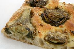 Carciofi (artichoke) pizza, Grandaisy Bakery, West 72nd Street, Manhattan