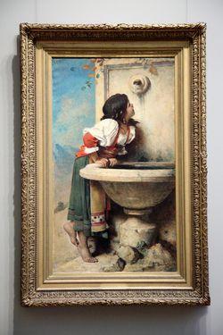 %22Roman Girl at a Fountain%22 (Leon Bonnat, 1875), Metropolitan Museum of Art, Fifth Avenue, Manhattan