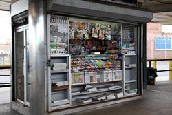 Newsstand, Rockaway Avenue station, Canarsie, Brooklyn