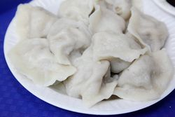 Mutton dumplings, Best North Dumpling Shop, Flushing, Queens