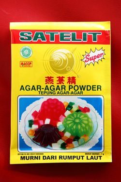 Satelit brand agar-agar powder, Indo Java, Elmhurst, Queens