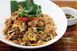 Char kueh teow and Indian mee goreng combo, Rasa, West 8th Street, Manhattan