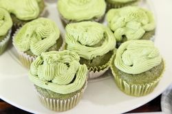 Matcha cupcakes, New York Buddhist Church White Elephant Sale, Riverside Drive, Manhattan