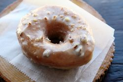 Salted caramel pecan doughnut, Dun-Well Doughnuts, Williamsburg, Brooklyn