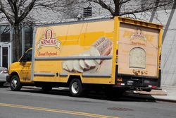 Arnold Bread delivery truck, formerly a Penske rental truck, Sheepshead Bay, Brooklyn