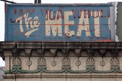 %22The Meat,%22 surviving signage, Jamaica, Queens