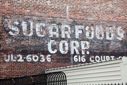 Sugar Foods, surviving signage, Red Hook, Brooklyn