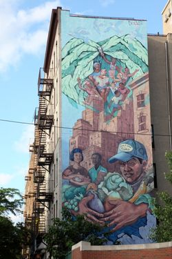 %22Lead Safe House%22 mural, Amsterdam Avenue, Manhattan
