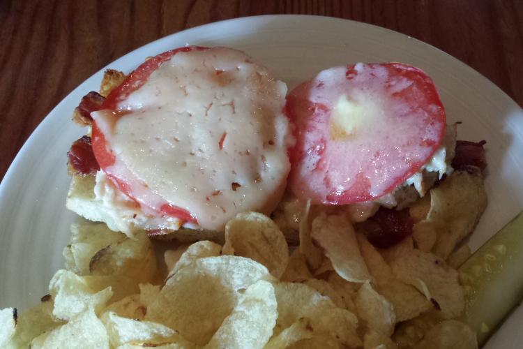 Crab melt, Damariscotta River Grill, Damariscotta, Maine