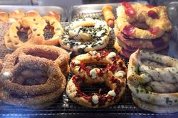 Display case, My Pretzel, Jersey City