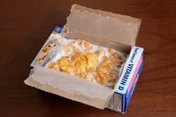 Kellogg's Frosted Flakes served in the box, Morningside Heights, Manhattan