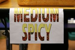 %22Medium spicy%22 at the Buddhist Missionary Society's New Year celebration, Jackson Heights, Queens