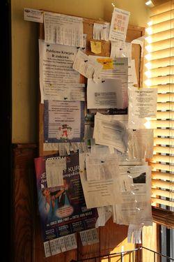 Bulletin board, Polish & Slavic Center Cafeteria, Greenpoint, Brooklyn