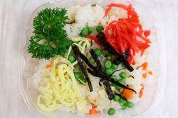 Chirashi sushi, New York Buddhist Church White Elephant Sale, Riverside Drive, Manhattan