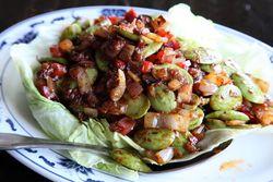 Petai with belacan sauce, Pulau Pinang, Elmhurst, Queens