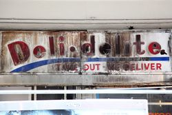 Deli Delite, surviving signage, Maiden Lane, Manhattan