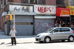 Surviving signage for S&S Meats, Sunset Park, Brooklyn