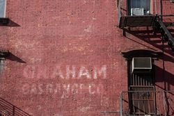 Graham Gas Range Co, surviving signage, Williamsburg, Brooklyn