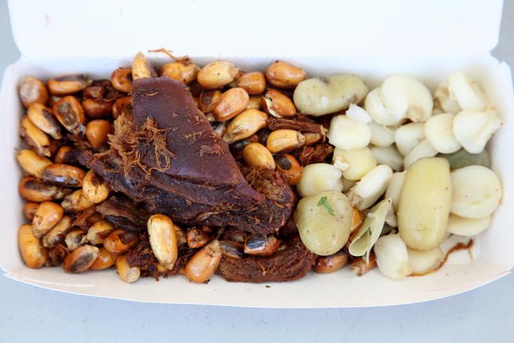 Ecuadorian snack sampler, Ecuafest, West 107th Street, Manhattan
