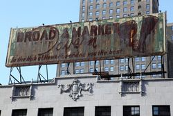 Broad & Market Tavern, surviving signage, Newark, New Jersey