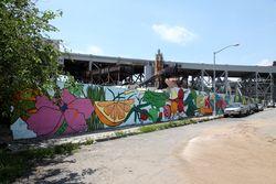 %22Pineapple Mural,%22 Ruth Hofheimer, Gowanus, Brooklyn