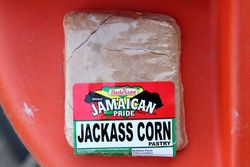 Jamaican Pride brand jackass corn pastry, Chung's Market, Bedford-Stuyvesant, Brooklyn
