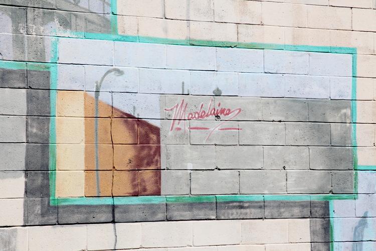 Artwork outside Madelaine Chocolate, Rockaway Beach, Queens