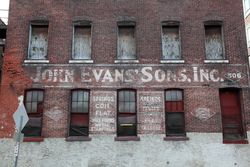 John Evans' Sons, surviving signage, Philadelphia