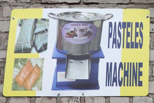 pasteles machine
