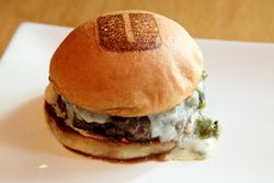 Hatch burger, Umami Burger, Sixth Avenue, Manhattan