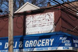 Signage for the former Stapleton Country Store Deli, Stapleton, Staten Island