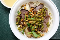 Guilin style rice noodles at Top Taste Restaurant, Sunset Park, Brooklyn