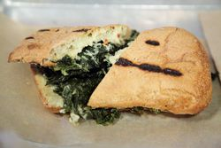 Braised kale sandwich, Lincoln Station, Prospect Heights, Brooklyn