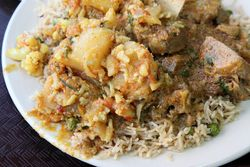 Potato, cauliflower, and lamb, Kashmir 9, Ninth Avenue, Manhattan