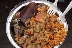 Lechon platter, Lechonera La Pirana, Longwood, Bronx