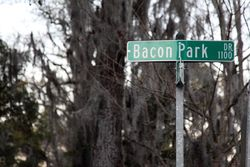 Bacon Park Drive street sign, Savannah, Georgia