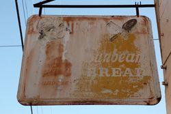 Sunbeam Bread, surviving signage repurposed for a hair salon, Savannah, Georgia