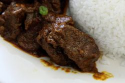 Beef rendang, Savory Cafe, Astoria, Queens