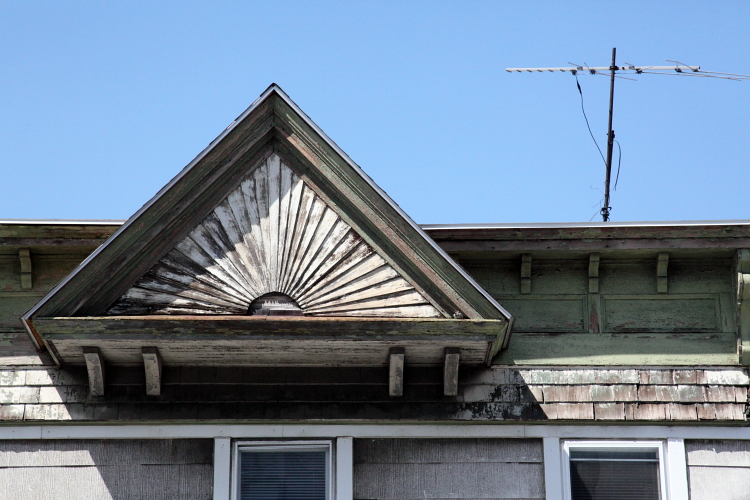 Decorative gable, College Point, Queens