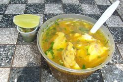 Catfish soup, Ecuadorian cart, Amsterdam Avenue, Manhattan