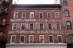 %22Tea,%22 surviving signage, Duane Street, Manhattan