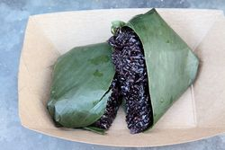 Coconut black stick rice, Queen Cobra Thai, Smorgasburg, Brooklyn Heights, Brooklyn