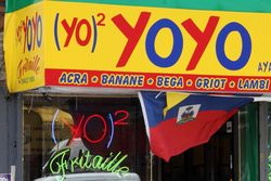 Yo Yo Fritaille (closeup on logo), Flatbush, Brooklyn
