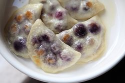 Blueberry pierogi, First Avenue Pierogi & Deli, First Avenue, Manhattan