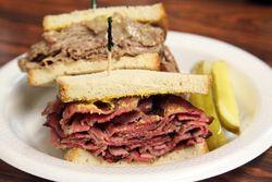 Pastrami and brisket sandwiches, Loeser's Kosher Deli, Kingsbridge, Bronx
