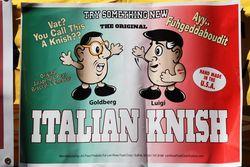 Flyer for Italian knishes, Ferragosto, Belmont, Bronx