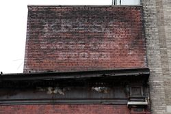 Surviving sign for a former Kress 5-10-25 cent store, West 124th Street, New York