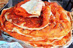 Katlama, %22Pakistani pizza,%22 Gourmet Sweets, Pakistan Independence Day Mela, Kensington, Brooklyn