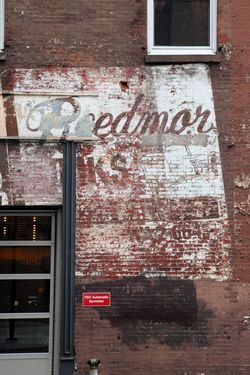 %22Reedmor Books,%22 surviving signage, Philadelphia
