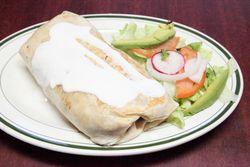 Burrito de cecina, Guadalupana Deli & Victoria Restaurant, Broadway, Manhattan